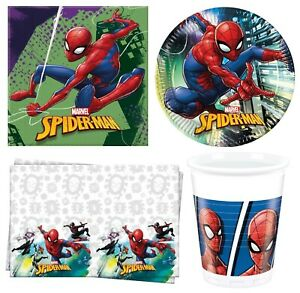 Marvel SPIDERMAN TEAM-UP Birthday Party Range Tableware Supplies Decorations