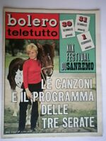 Bolero 1136 Zanicchi Sandrelli Leali Cortese Hoffman Battisti Gemma Gall Sanremo
