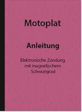 Descrizione MOTOPLAT istruzioni di riparazione accensione impianto di accensione manuale opuscolo