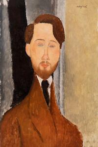 Léopold Zborowks by Amedeo Modigliani 60cm x 40cm Art Paper Print