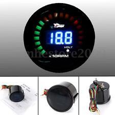 2'' 52MM Car Digital LED Tachometer Tacho Meter Rev Counter RPM & Voltage Gauge