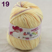 Sale 1 ball x50g Baby Cashmere Silk Wool Children hand knitting Crochet Yarn 19