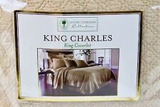 King Charles Matelasse Bedspread Coverlet Cotton King Size Birch 108 x 96""