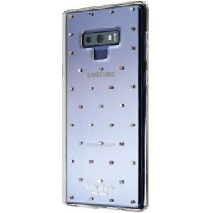 Kate Spade Hardshell Case for Samsung Galaxy Note9 - Clear with Pin Dot Gems