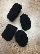 4 Extra Thick Hair Scrunchy Bobble Ponies UNISEX Band Elastic Hair Band Wollband