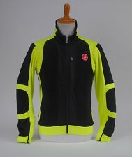 Castelli Elemento 7X Air Jacket Windstopper Men's Cycling Black Yellow Fluo XL