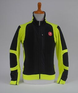 Castelli Elemento 7X Air Jacket Windstopper Men's XL Cycling Black Yellow Fluo