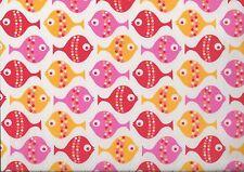"Hilco ""Kid's Fish"", blanco-rojo-amarillo, hochw. BW-popelín, 150 cm br, MW, € 12,00/m"