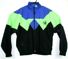 Vtg 1989 Body Glove Windbreaker Style Track Jacket Full Zip Multi Color Sz L