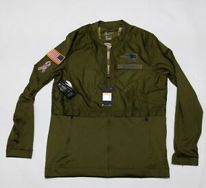 New Nike New England Patriots Football Salute To Service Full Zip Jacket Size L