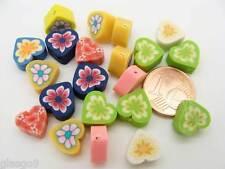 10 perles Papillons FIMO pate polymere 13x10mm Multicolore DIY Bijoux Déco