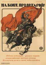 "Russian Propaganda Poster ""PROLETARIAN! GET ON A HORSE!"" Soviet Union Communism"