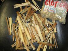 Vintage Wooden Clothespins & Bag- lot of around 90, look unused