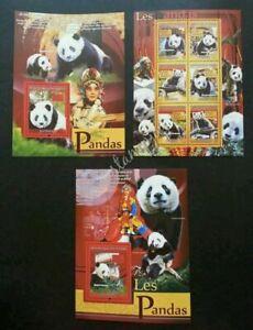 [SJ] Guinea Panda 2008 Chinese Opera Cantonese Art Culture 中国京剧 (sheetlet) MNH