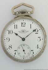 Antique Official Railroad Standard Ball Waltham 17j Art Deco Pocket Watch To Fix