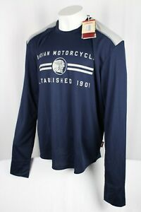 Indian Motorcycle Men's Long Sleeve Performance T-Shirt Navy Blue P286093006