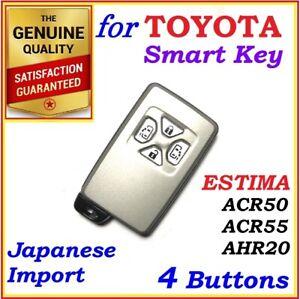 FOR TOYOTA ESTIMA REMOTE SMART KEY 4 BUTTONS - ACR50 / ACR55 / AHR20