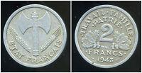 2 francs  BAZOR 1943  B  ( TB + )