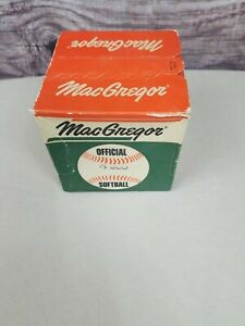 VINTAGE MacGregor Official Softball G300 NEW UNUSED 60s 70s