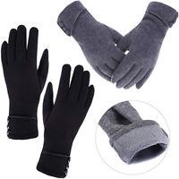 Women Warm Gift Winter Thick Soft Cashmere Touch Screen Fleece Gloves Mittens