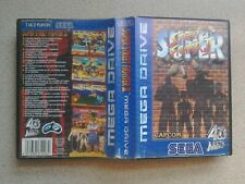 EMPTY BOX For Sega Mega Drive Game - Super Street Fighter 2 (Genuine - PAL)