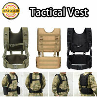 New Tactical Military Vest Waistcoat Airsoft Molle Combat Assault Plate Carrier