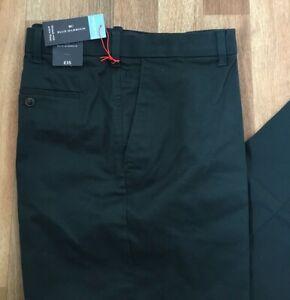 M&S Regular Fit Premium Stretch Chinos Blue Harbour Dark Green Size 38 W   31 L