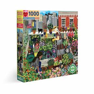eeBoo 1000 Pc Puzzle – Urban Garden Kids Puzzle Family Puzzle 04346