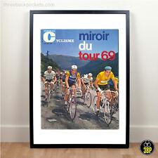 Large 1969 Tour de France Magazine Cover Print, Eddy Merckx, Eroica, Cycling