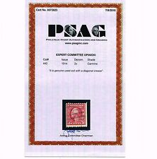 EXCEPTIONAL GENUINE SCOTT #442 VF USED COIL SINGLE PSAG CERT - PRICED TO SELL