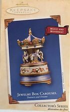 Jewelry Box Carousel 2003 Treasures and Dreams Series #2 Music Movement QX8197