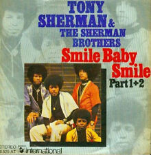 "7"" Tony Sherman & The Sherman Brothers Smile Baby Smile Part 1 & Part 2 70`s"