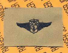 USAF Air Force Chief Flight Nurse Qualification wing badge Desert patch 2 1/4""