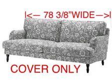 "Ikea Stocksund COVER SLIPCOVER FOR Sofa Hovsten Gray White 78 3/8"" WIDE"