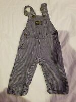 Oshkosh Vintage Overalls Sz 6/9m In Good Condition!