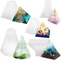 Pyramid Cone Prism Silicone Mould for Resin Casting Orgonite Jewellery Pendant