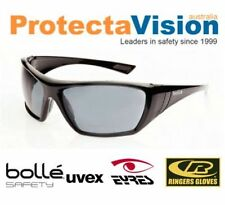 NEW Bolle HUSTLER Smoke Lens UV Protection Safety Sunglasses Sunnies