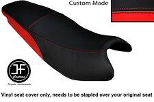 BLACK & RED AUTOMOTIVE VINYL CUSTOM FITS KYMCO PULSAR 08-13 DUAL SEAT COVER