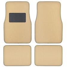 Supreme Plush 4 Piece High Quality Carpet Auto Car Floor Mats Solid Light Beige