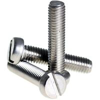 M3.5 ( 3.5mm ) A2 STAINLESS STEEL SLOTTED CHEESE HEAD MACHINE SCREWS DIN 84