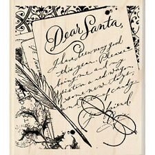 DEAR SANTA LETTER Rubber Stamp 60-00946 Inkadinkado NEW! Christmas Holiday Wish