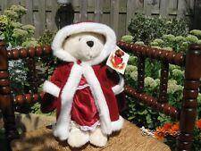 Metro Soft Toys Thirsk UK Christina Christmas Bear Jointed 14 Inch White Plush