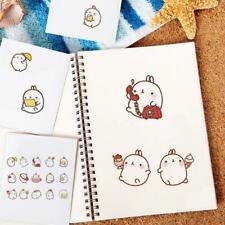 Molang Rabbit Mini Paper Stickers DIY Diary Scrapbooking Seal LH G9C6