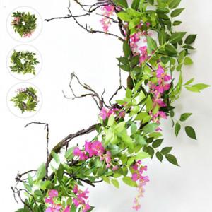 Künstliche Girlande Kunstblumen 2M Efeugirlande Hängende Pflanzen Hochzeit Deko