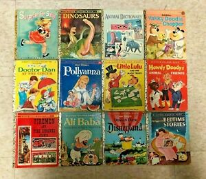"""BR Lot of 22 Little Golden Books ALL """"A"""" 1st Editions!! 1940s-1970s VINTAGE"""
