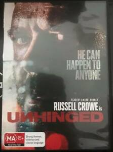 UNHINGED DVD Russell Crowe Car Crash Road Rage Thriller Horror Action Movie R4