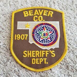 Beaver County Oklahoma Sheriff Shoulder Patch