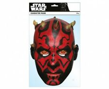 Darth Maul Official Star Wars Single Card 2D Party Face Mask red lightsabre