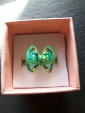 Brand new childs green butterfly ring! UK size K.5! Kids childrens gift!