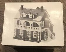 """Dept 56 """"Captain's Cottage� New England Village 1990 Lighted, Orig Box & Light"""